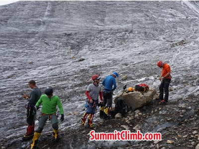 Equipment training and testing in manaslu basecamp. Photo Puwei