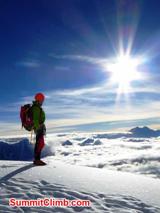 at 6,500 metres on Manaslu. Photo Zoltan B