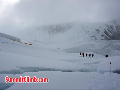 Just in camp 3 in bit bad weather. Photo Puwei L