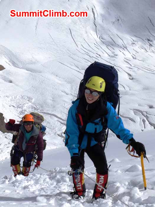 Sherpa and Climber at Manaslu Camp 1