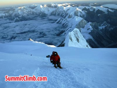 On the way to summit