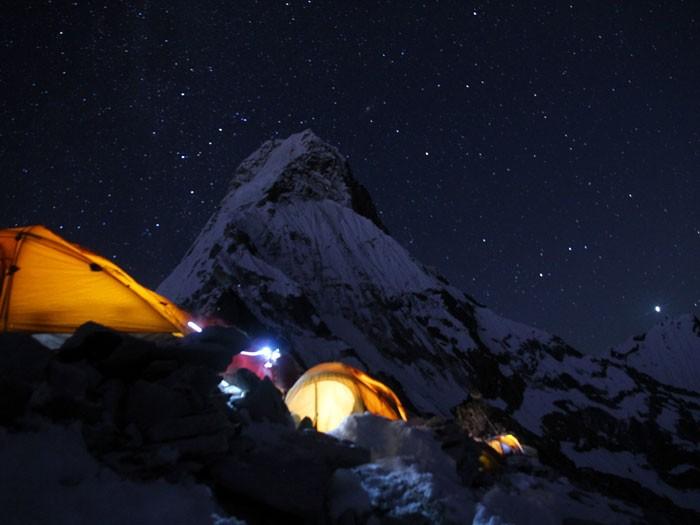 Camp 1 at Ama Dablam