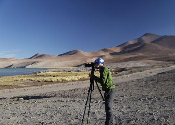 Ricardo Cordeiro fotografando