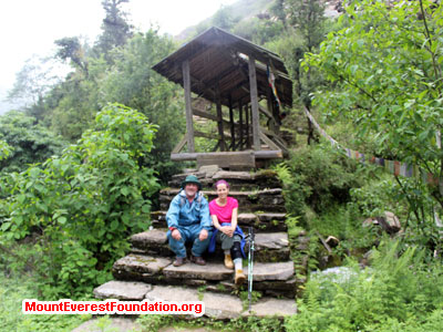 nepal volunteer trek, monastory room