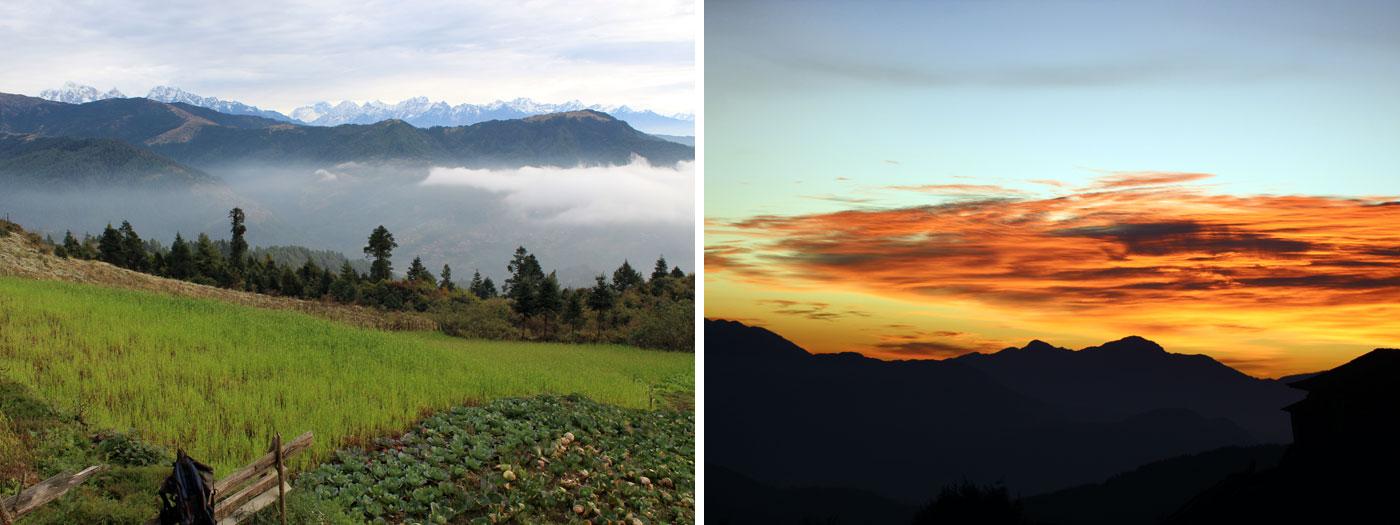 Himalayas seen in distance Horizon