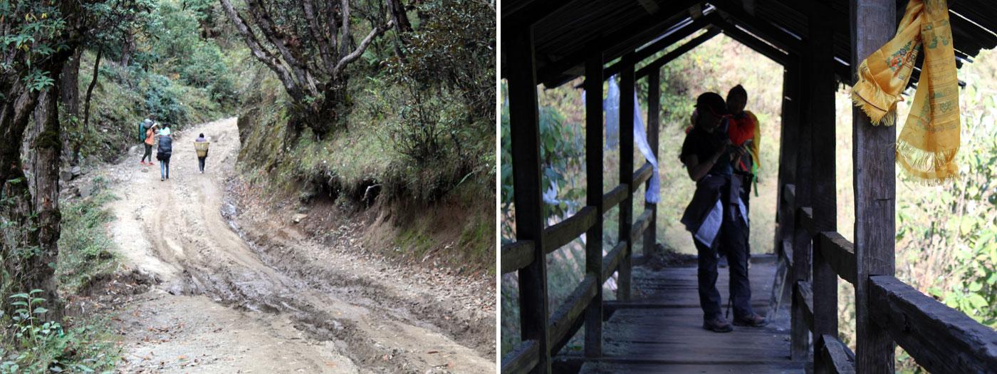 Nice trekking path one of the Bridge