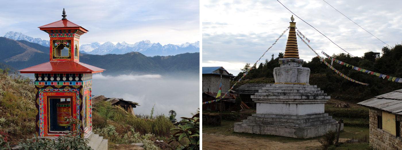 beautiful day from Jafre Buddhist Stupa at Jafre