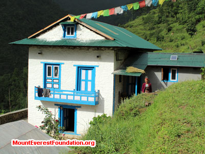 nepal volunteer trek, patle house