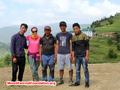 nepal volunteer trek, our staff