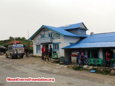 nepal volunteer trek, dhap tea house