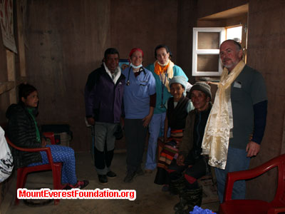 nepal volunteer trek, team at health post