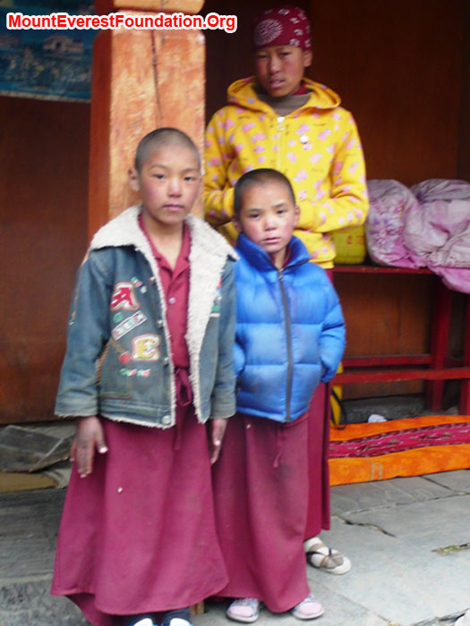 Sherpa nuns at the local temple. Thanks to Marcia MacDonald
