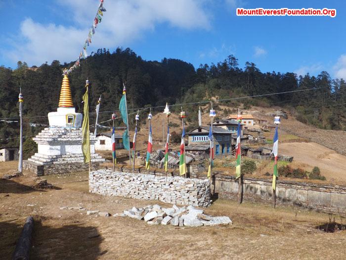 Buddhist Stupa at Jamphre. Photo by Anne Kates