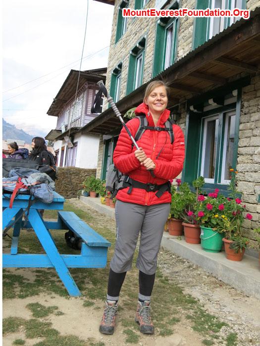 Ready for trek. Photo Daniela Milea