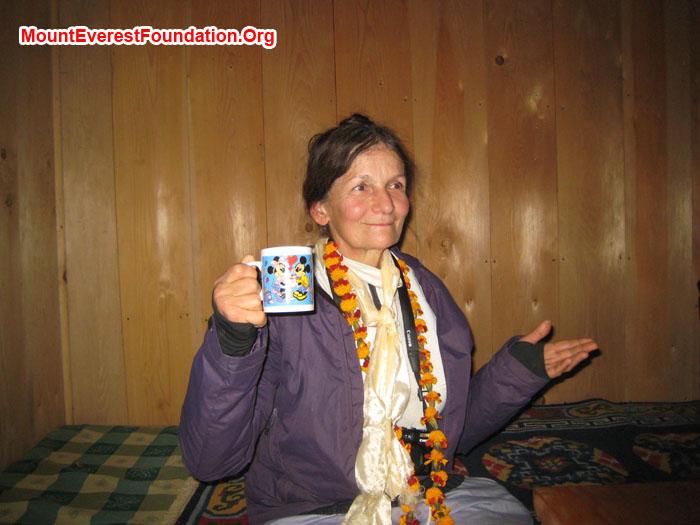 Marie enjoying the tea. Photo Shelley Bloom