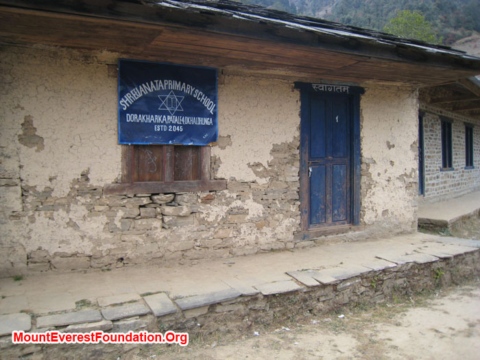 One of the primary school of Dhorkarka. Photo Shelley Bloom